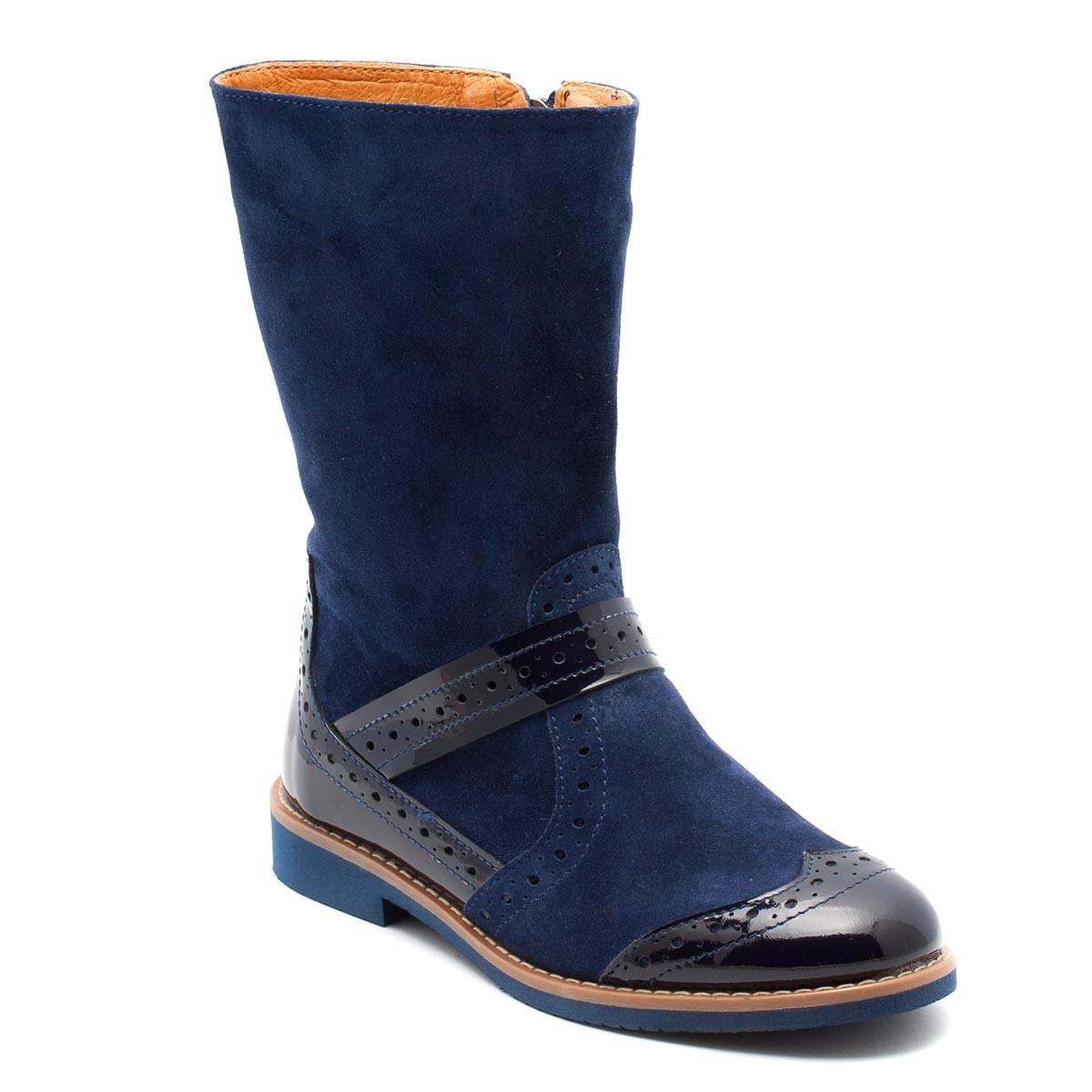 Замшевые сапоги FS Сollection для девочки, демисезонные, размер 28-35