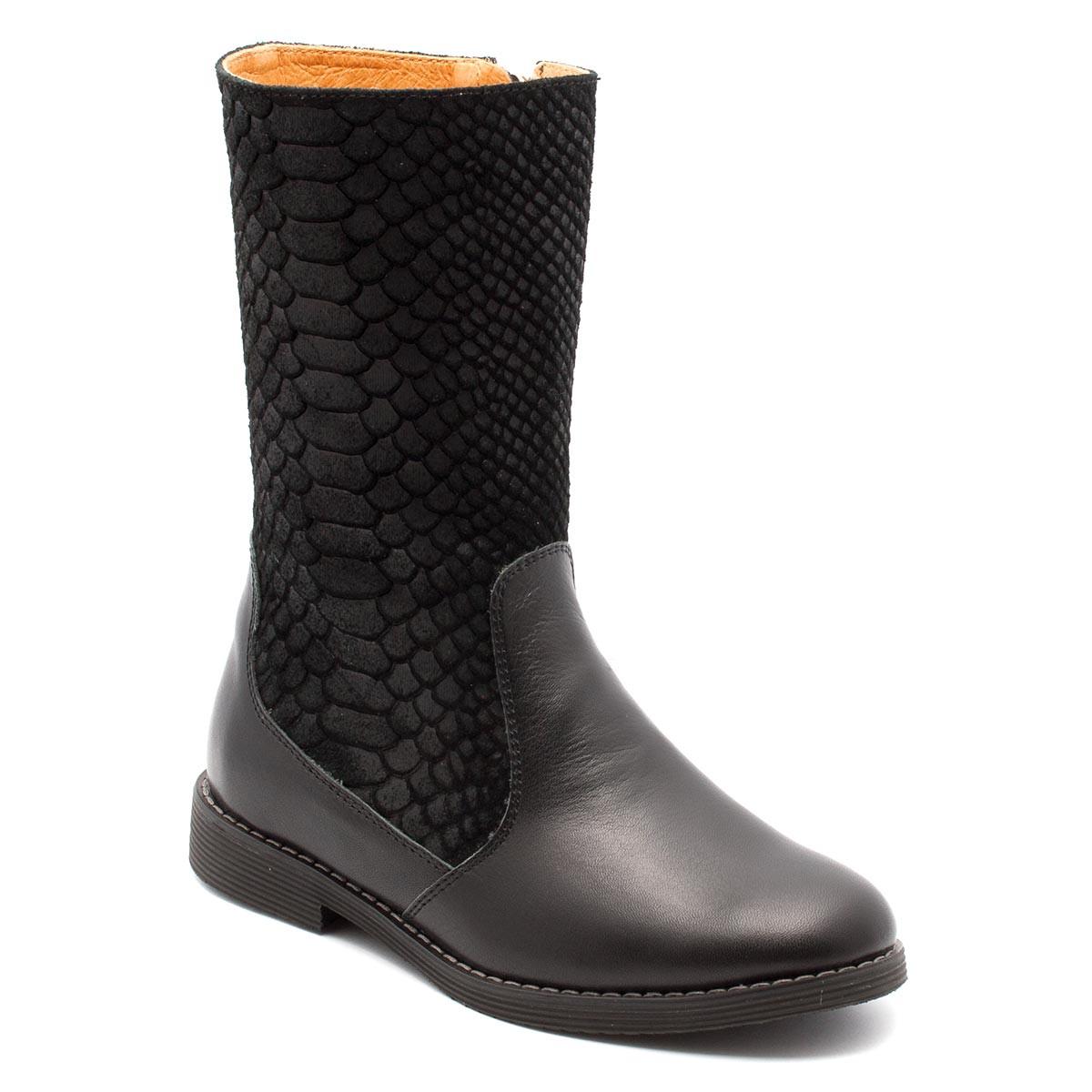 Кожаные сапоги FS Сollection для девочки, демисезонные, размер 28-35