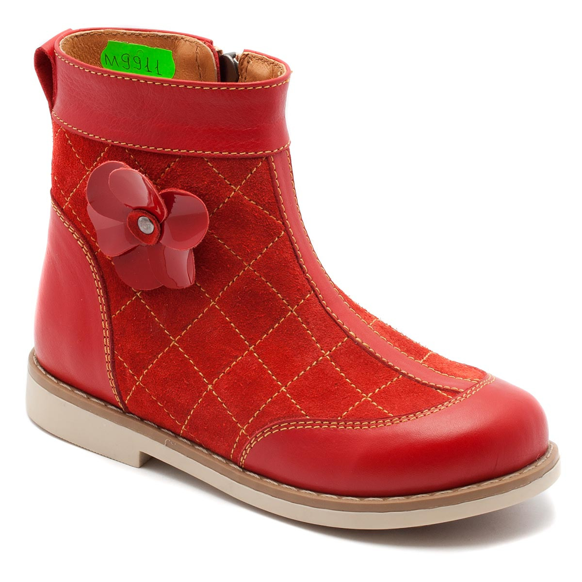 Весенние сапожки FS Сollection для девочки, красные, размер 20-30