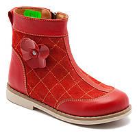 Весенние сапожки FS Сollection для девочки, красные, размер 20-30, фото 1