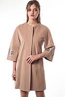 Демисезонное кашемировое женское пальто А-12 средней длины, фото 1