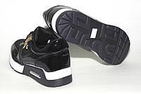 Кроссовки женские черные на шнуровке, лаковые. Новинка!