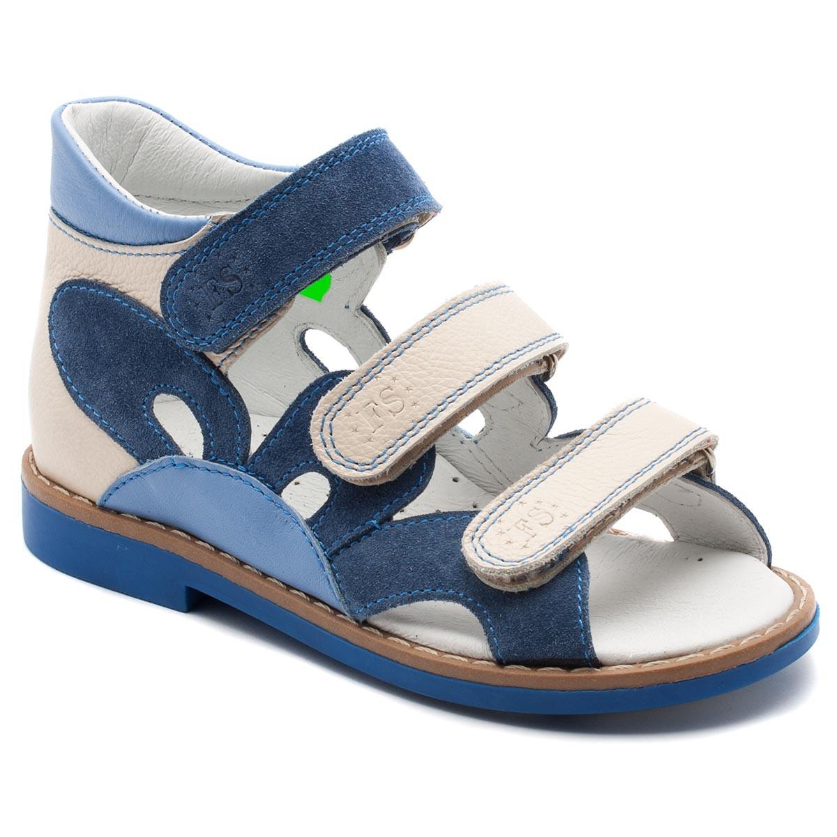Ортопедические босоножки FS Сollection для девочки, синие, размер 20-30