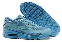 Кроссовки женские Nike Air Max Lunar 90 Blue ярко голубые