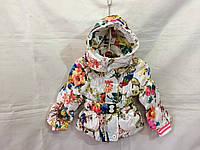 Куртка для девочки демисезонная 1-4 лет,белая