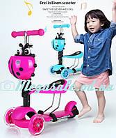Самокат детский трехколесный Mini Micro Ladybird 3в1: регулируемая высота руля, 3 положения сидения