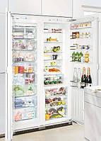 Встраиваемые холодильники side-by-side