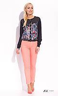 Женские летние коттоновые брюки персикового цвета. Модель Dena  Zaps, коллекция весна-лето 2016.