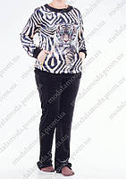 Шикарный женский костюм с принтом тигр (Турция)