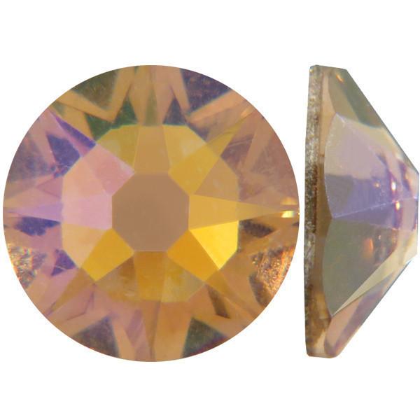 Светлый топаз | AB Light Colorado Topaz Стразы Swarovski (Размер 10ss; Тип_нанесения Клей E6000)