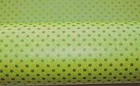 Крафт-бумага подарочная (для цветов) Зеленый горох на салатовом фоне 10 м/рулон