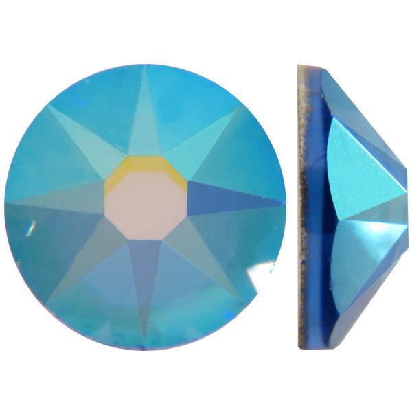 Сапфировый | AB Sapphire Стразы Swarovski (Размер 10ss; Тип_нанесения Клей E6000)