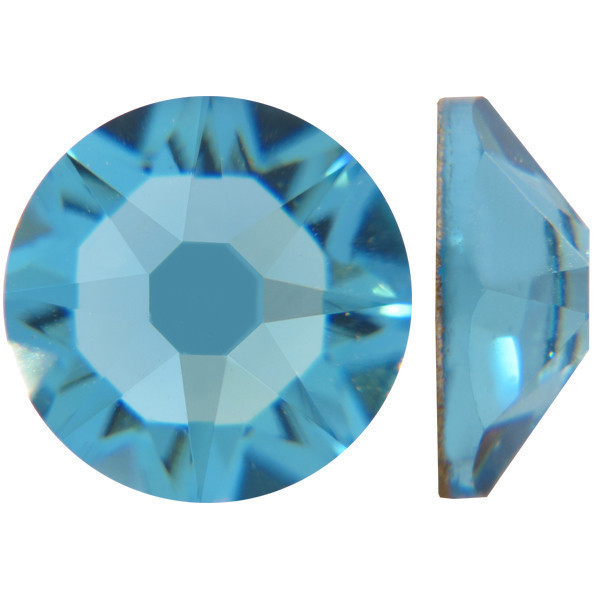 Морская волна | Aquamarine Стразы Swarovski (Размер 10ss; Тип_нанесения Клей E6000)