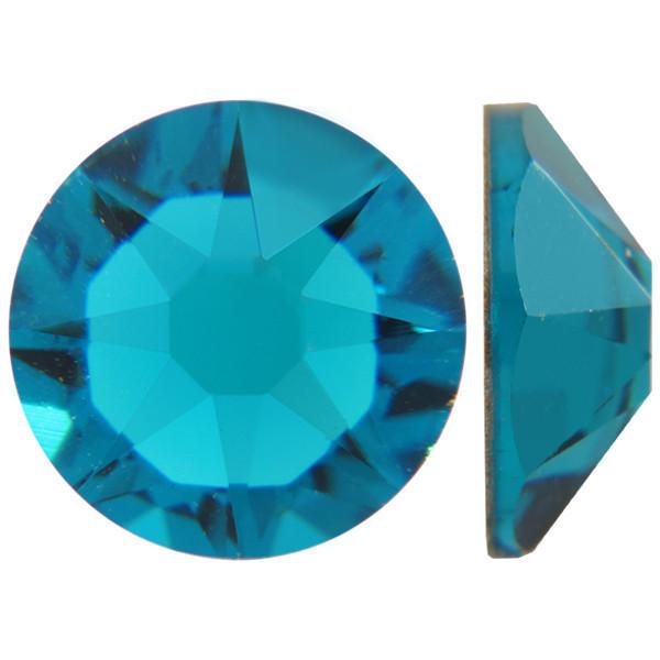 Блакитний циркон | Blue-Zircon Стрази Swarovski (Розмір 10ss; Тип_нанесения Клей E6000)