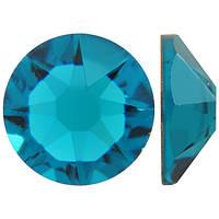 Голубой циркон | Blue-Zircon Стразы Swarovski (Размер 10ss; Тип_нанесения Клей E6000)