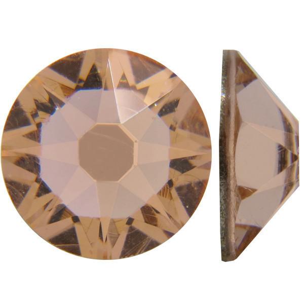 Персиковий   Light Peach Стрази Swarovski (Розмір 10ss; Тип_нанесения Клей E6000)
