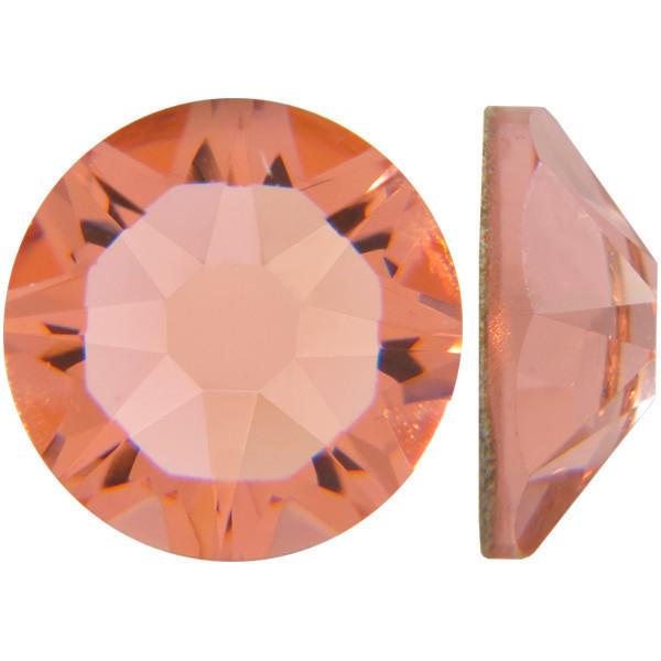 Розовый персик   Rose Peach Стразы Swarovski (Размер 10ss; Тип_нанесения Клей E6000)