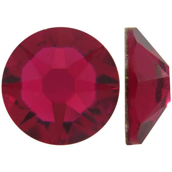 Рубиновый | Ruby Стразы Swarovski (Размер 10ss; Тип_нанесения Клей E6000)