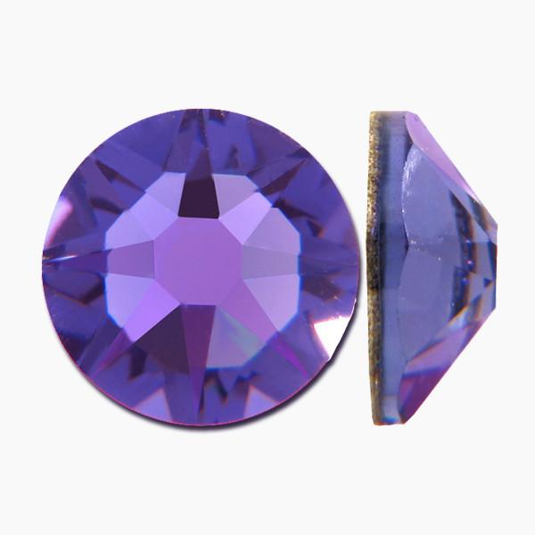 Холодный синий   Tanzanite Стразы Swarovski (Размер 10ss; Тип_нанесения Клей E6000)