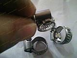 Хомут червячный Norma W2 08-12 мм (нержавеющий), фото 3