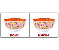 """Карточки мини русско-английские """"Посуда/Kitchenware"""" 20 карт., 096877"""