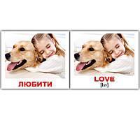 "Карточки мини украинско-английские ""Дієслова/Verbs"" 40 карт., 094095"