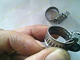 Хомут червячный Norma W2 08-16 мм (нержавеющий), фото 4