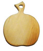 """Деревянная разделочная доска """"Яблоко"""", средняя, 25*15см"""