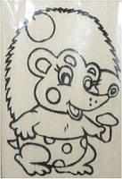 """Заготовка """"Ежик"""" на магните с контурами рисунка, бук, 6см*9см, 171814"""