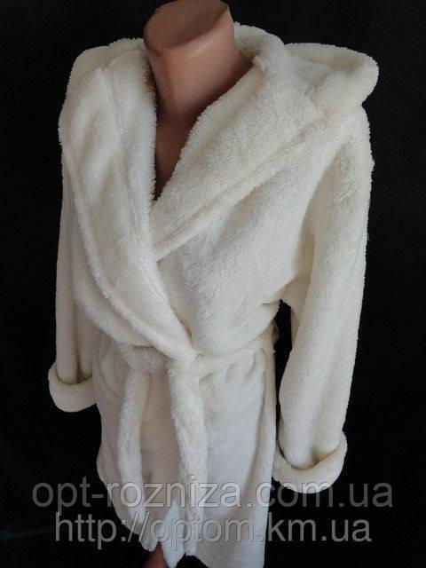 женские махровые халаты с капюшоном