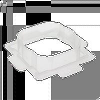 Комплект прокладок IP-44 для одинарних розеток Lumina-2