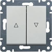 """Вимикач для жалюзі """"Контактор"""" Lumina-2, білий, 10АХ/230В"""