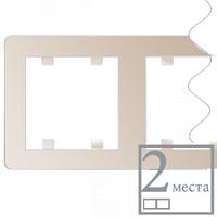 Рамка 2-кратна горизонтальна Lumina-2, крем