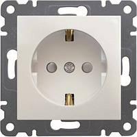 Розетка з з/к з захистом контактів Lumina-2,  біла, 16А/230В
