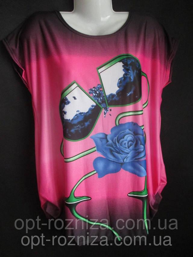 женские футболки больших размеров оптом