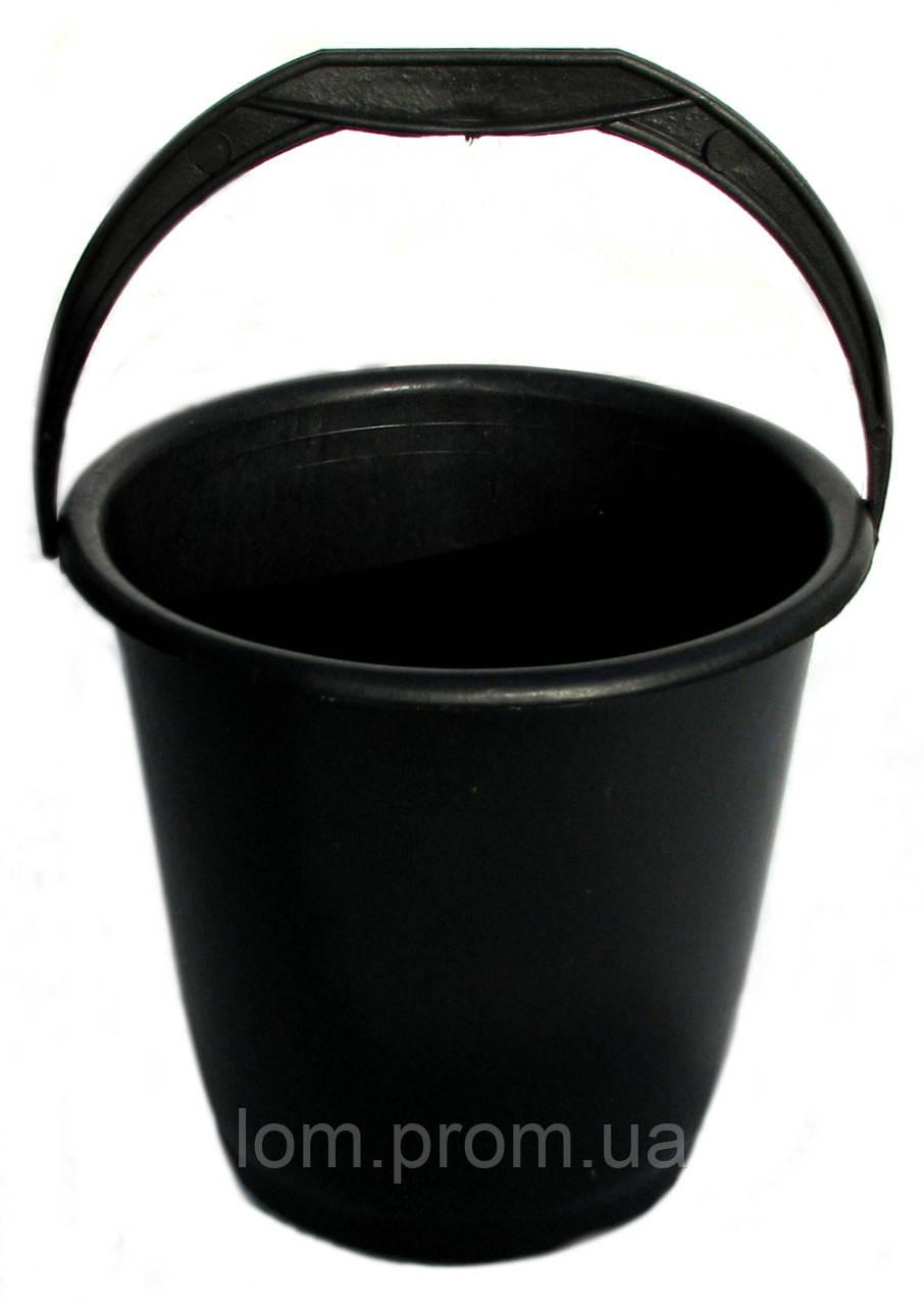 Ведро пластмассовое 10 л черное - Интернет-магазин оптовых цен «Лом» в Харькове