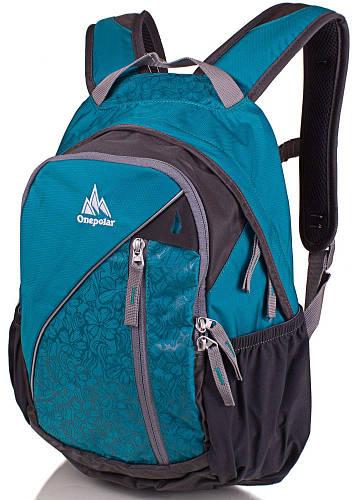 Бирюзовый женский рюкзак ONEPOLAR 20 л W1958-biruza