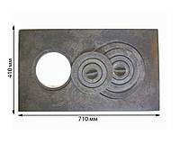 Плита чугунная 2-х комфорочная земляная 710*410 мм