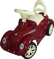 Машинка для катания РЕТРО бордовая, ТМ Орион, 900бордо
