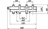 Коллектор однобалочный (125) на 2+1 выхода