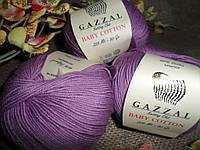Gazzal Baby Cotton (беби коттон) 3414 пурпурный