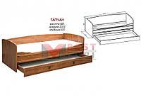 Тапчан системы Валенсия (с ламелями / без матраса) (клен)