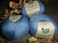 Gazzal Baby Cotton(Беби коттон) 3423 небесно голубой