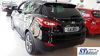 Hyundai IX-35 2010-2015 гг. Боковые площадки Line (2 шт., алюминий)