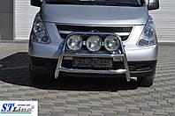 Hyundai Starex H1 H300 2008+ гг. Кенгурятник WT018 (нерж.)
