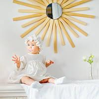 Рубашка для крещения с шапочкой Нежность  от   Battesimo от 6 до 12 месяцев, шампань