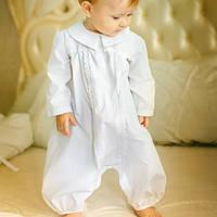 Песочник и шапочка для крещения малыша Крестильный от  Battesimo от 0 до 6 месяцев.