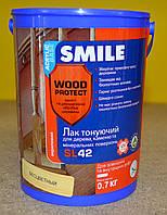 Тонирующий акриловый лак для  дерева и минеральных оснований SL 42 Wood Protect Smile 0,7 кг
