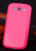 Розовій силиконовый чехол Samsung Galaxy S3 i9300 силикон
