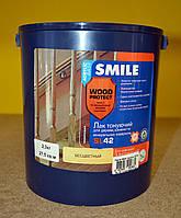 Тонирующий акриловый лак для  дерева и минеральных оснований SL 42 Wood Protect Smile 2,3 кг